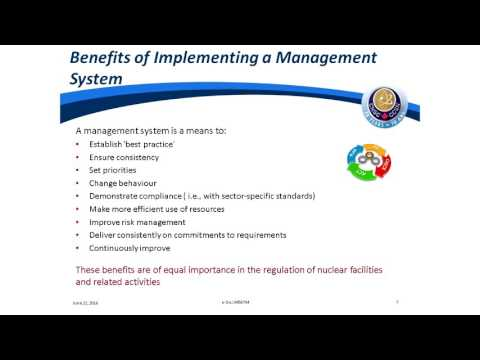 Technical Briefing by CNSC on Management systems in the Nuclear Industry (June 22, 2016)