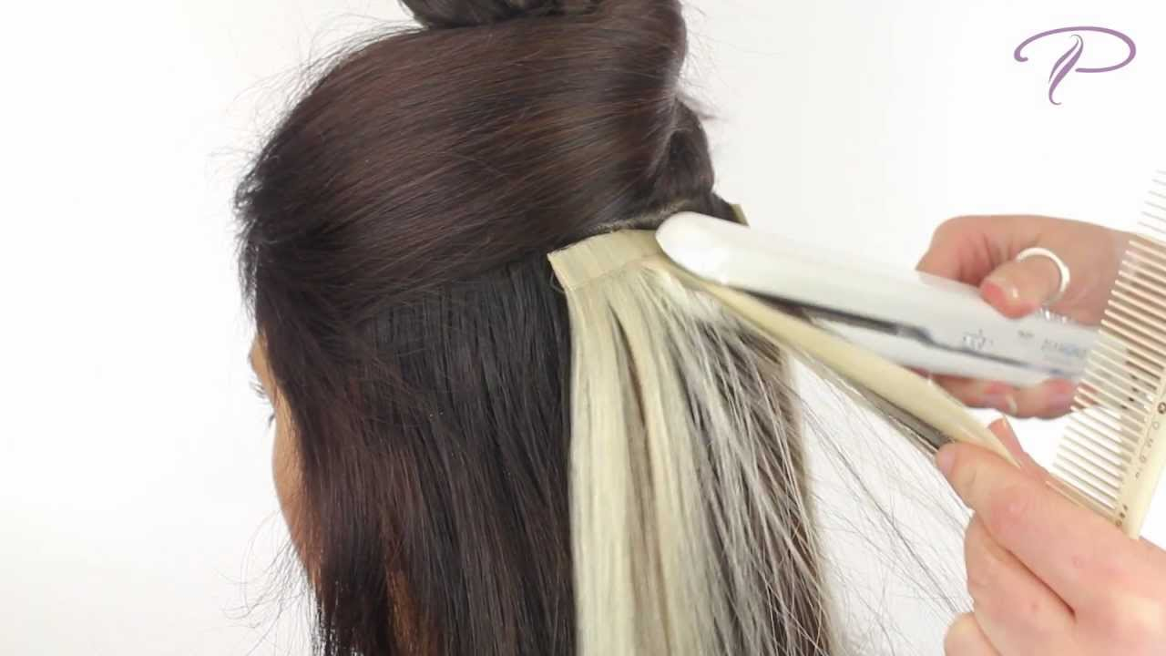 Tape Hair Extensions Install And Removal Youtube