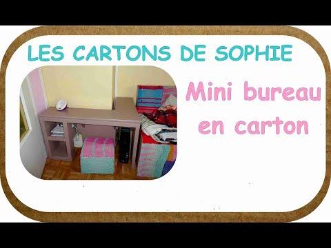 LES CARTONS DE SOPHIE : Comment fabriquer un bureau qui rentre dans une place minuscule ?