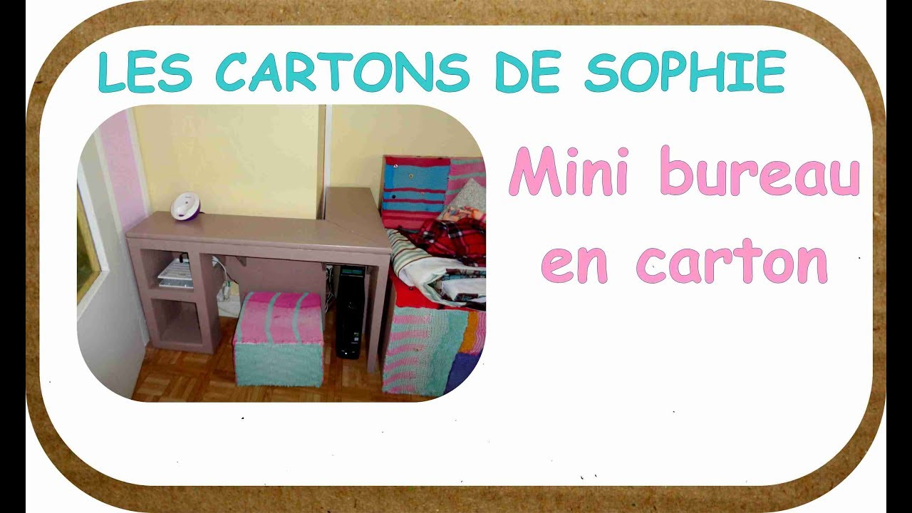 diy carton comment fabriquer un bureau pour un petit appartement youtube. Black Bedroom Furniture Sets. Home Design Ideas