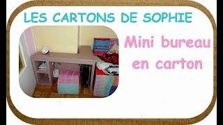 DIY CARTON : Comment fabriquer un bureau, pour un petit appartement ?