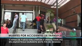 Muertes por accidentes y arma de fuego enlutaron familias en Anzoátegui