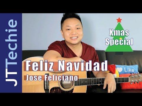 How to Play Feliz Navidad on Acoustic Guitar | NO CAPO | Xmas Special