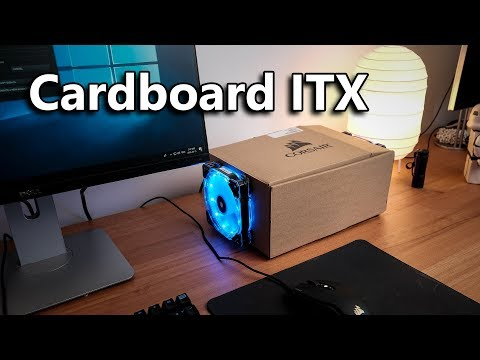 AMD Ryzen ITX PC in a Corsair power supply box! (Ft. GTX 1660ti)