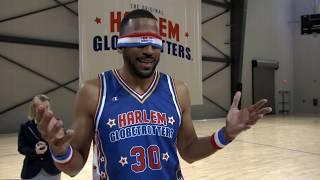 Most Blindfolded Basketball Dunks in One Minute | Harlem Globetrotters