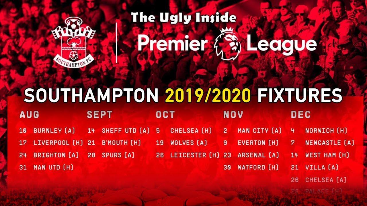 Arsenal Schedule 2020 Southampton FC 2019/2020 Premier League fixtures announced! | The