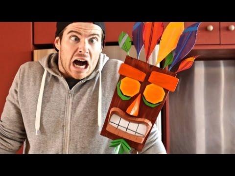 1:1 Scale Aku Aku Mask from Crash Bandicoot- Cosplay Chris Creates!