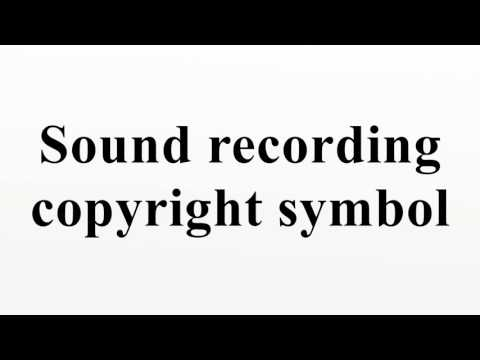 Sound recording copyright symbol