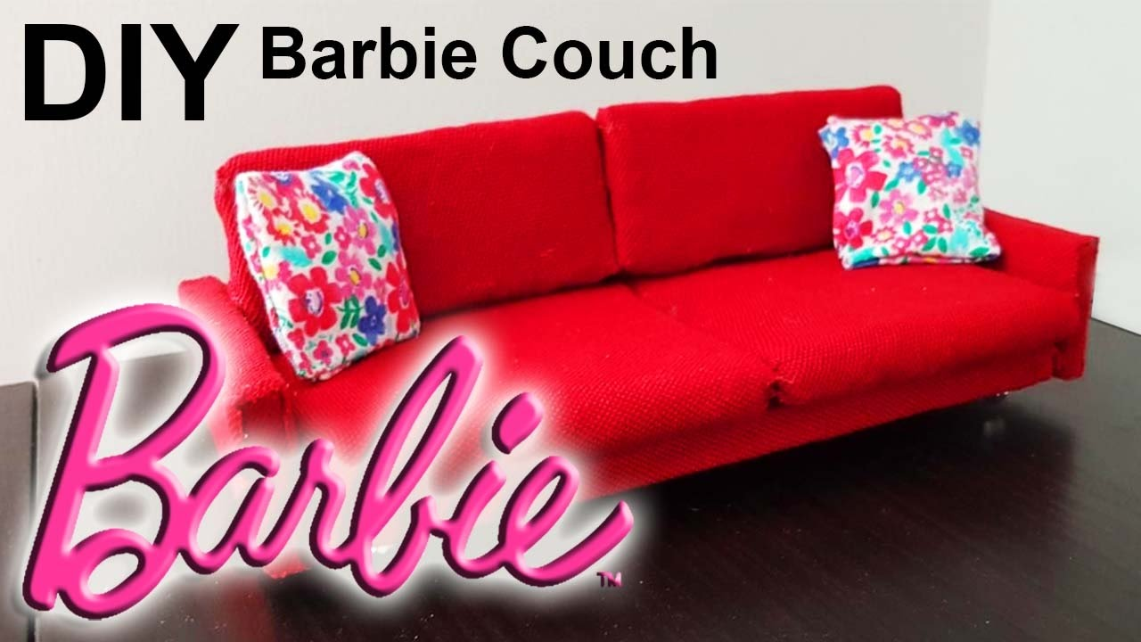 Barbie Couch Diy How To Make Barbie Doll Sofa كيف نصنع