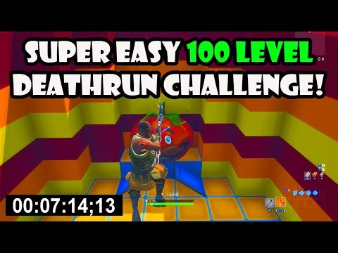 The SUPER EASY Default Deathrun with 100 Levels! (Fortnite Creative)