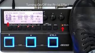 GT-1 Quick Start chapter4 : Effect Edit