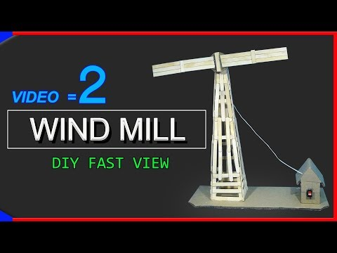 how to make windmill from popsicle sticks