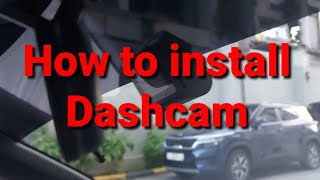 Download How to install and wire the dashcam.