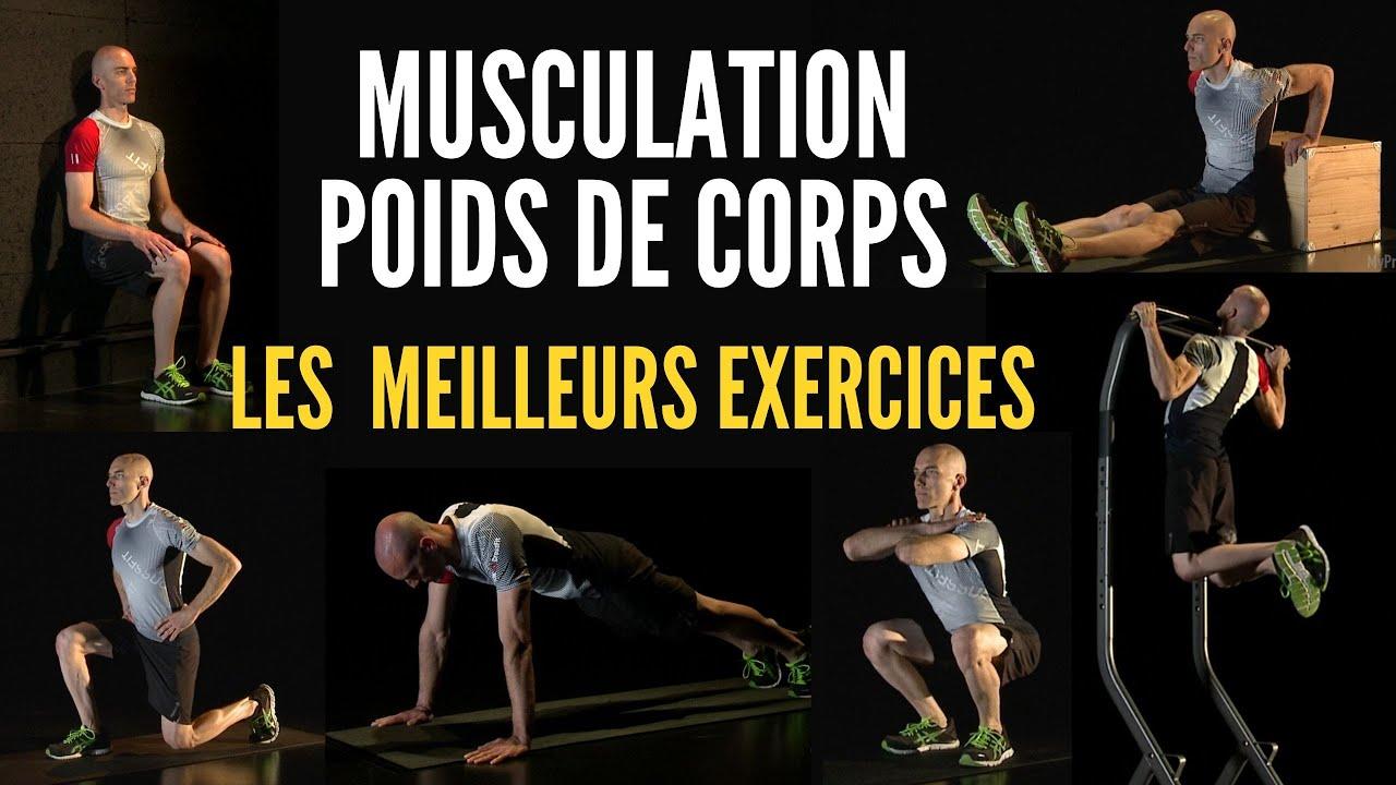 LES MEILLEURS EXERCICES EN MUSCULATION POIDS DE CORPS - LES 6 MOUVEMENTS DE BASE - YouTube