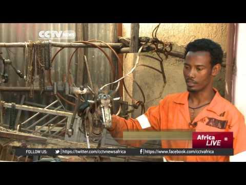 Ethiopian sculptor creates unique designs from scrap metal thumbnail