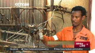 CCTV : Ethiopian Sculptor Creates Unique Designs From Scrap Metal