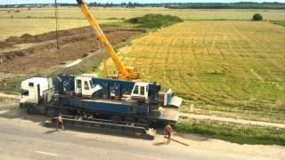 Демонтаж сваебойной машины.  Ул. Петровского. Полтава / Dismantling piling machine(, 2015-07-30T07:36:34.000Z)