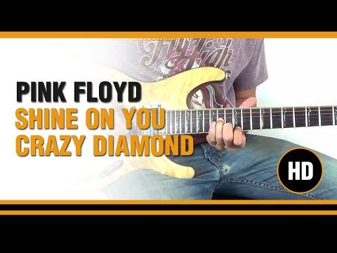 Shine on you crazy Diamond de Pink Floyd  en Guitarra Electrica  CLASE TUTORIAL