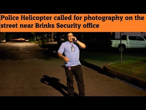 Police Helicopter comes for doing night photography – Brinks Cerritos Ca