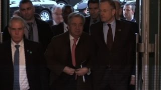 UN chief arrives for Cyprus peace talks in Geneva