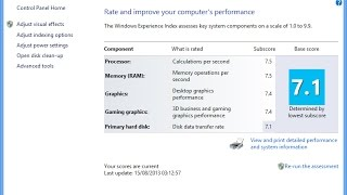 How to Check System Performance Rating in Windows 10/8.1/8