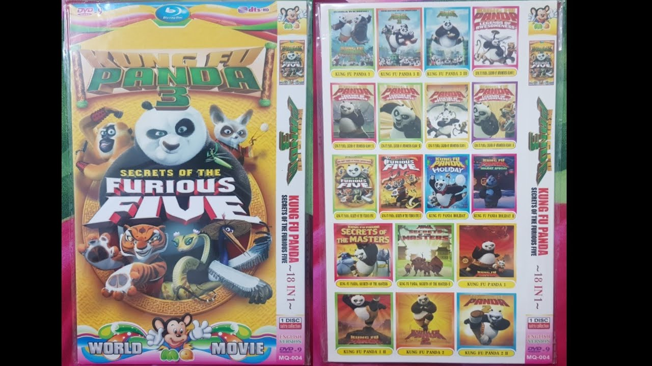 Download Kung Fu Panda 3 Kung Fu Panda Secrets Of The Furious Five (World MQ Movie) DVD Menu 2020