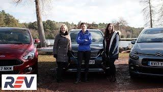 The REV Test:  Seven Seater cars. Citroen Grand C4 Picasso vs Ford S-Max vs Peugeot 5008