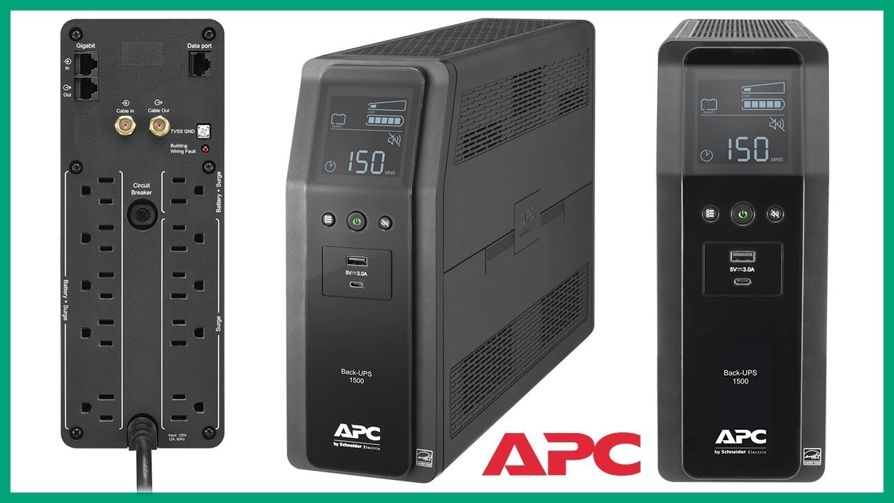 APC Back-UPS 1500VA Battery Backup & Surge BN1500M2 + Vs. BX1500G Ruby Rock YouTube #54 - YouTube