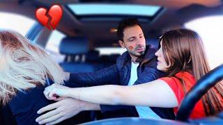 شافتني مع بنت شقراء في السيارة| جن جنونها💔مقلب الخيانة الزوجية