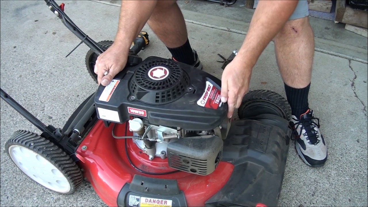 how to replace and repair a troy bilt lawnmower pull rope honda mtd powermore and kohler engines [ 1280 x 720 Pixel ]