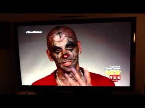 Worlds Worst Tattoos Dead Clown On Face Youtube