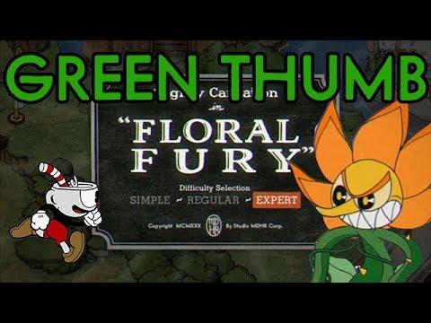 Cuphead Green Thumb Challenge: Floral Fury (No Killing Small Plants)