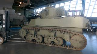 Annual Maintenance Week at the War Museum - Moving the M5 Stuart