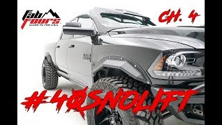 2016-2018 Dodge Ram // Fab Fours Open Fender System // Cutting