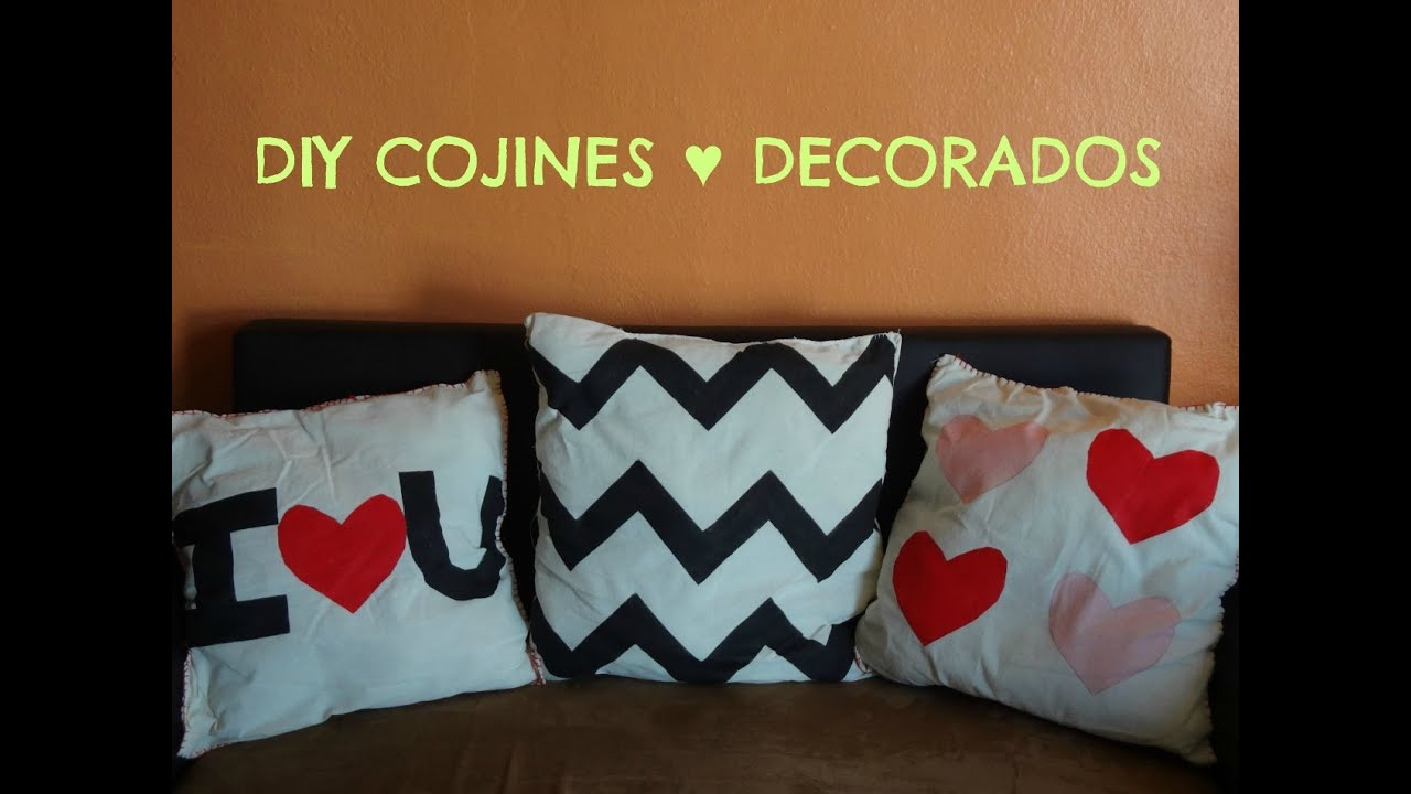 Como hacer cojines decorativos modernos de tela a mano - Como confeccionar cojines para sofas ...