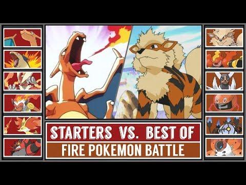 FIRE STARTER POKÉMON Vs. BEST OF FIRE POKÉMON (Pokémon Sun/Moon)