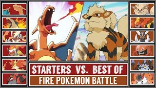 FIRE STARTER POKÉMON vs. BEST OF FIRE POKÉMON (Pokémon Sun/Moon)