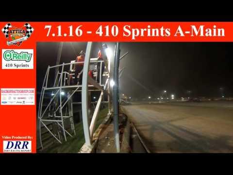 7.1.16 Attica Raceway Park 410 Sprints A-Main