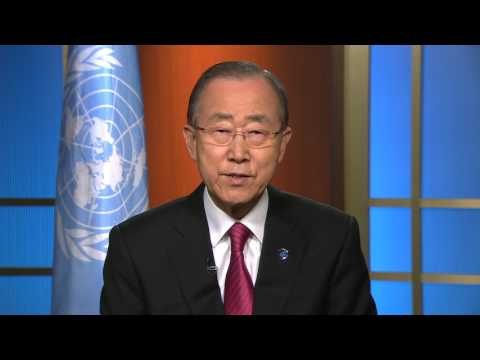 Fifteen Years of UNOSAT greeting from United Nations SG Ban Ki-Moon