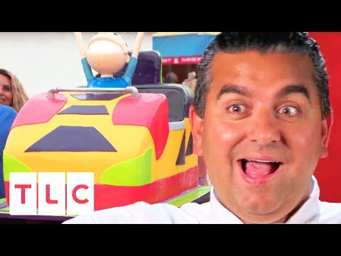 Rollercoaster Cake For Keansburg Amusement Park's 112th Anniversary | Cake Boss