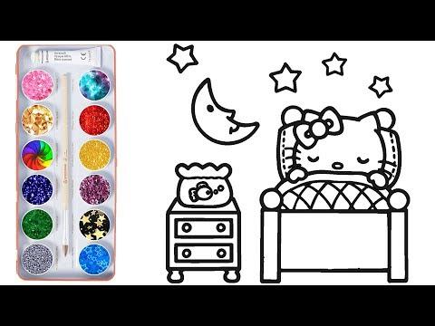 Download çizgi Film Hello Kitty Boyama Kitabı Renkleri öğreniyoruz