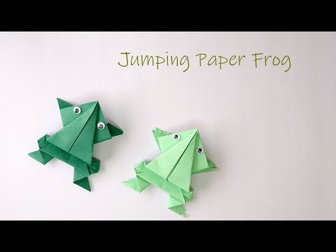 How to make Jumping Paper Frog | Origami Frog | DIY Quick paper toys |  Easy Paper Crafts Video