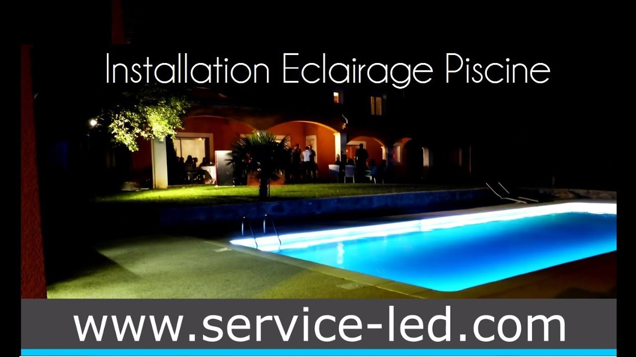 Installation eclairage piscine par ruban led youtube Installation piscine
