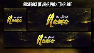 Free Abstract Revamp Pack Template  Youtube Banner, Twitter Header & Avatar