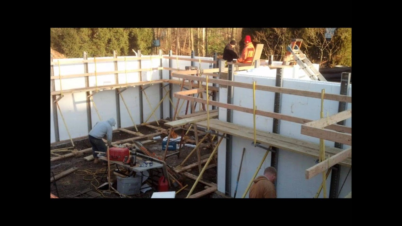 Icf insulated concrete home construction contractors youtube for Concrete home contractors
