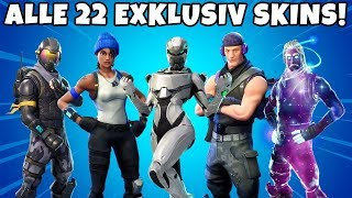 All 22 RARE EXCLUSIVE Skins Season 1-7 in Fortnite