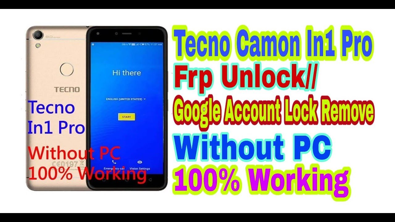 Tecno Camon In1 Pro Frp Unlock//Bypass Google Account Remove Without PC  100% Working By Tech Babul