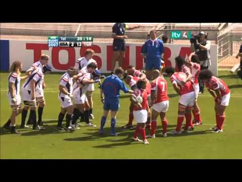 Rugby  2007. Pool A. United States v Tonga