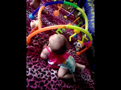 Playtime! Crawling / Play Gym.. - Baby Elza (5mos)
