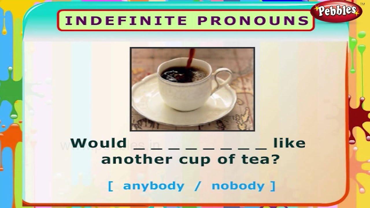 Indefinite Pronouns English Grammar Exercises For Kids – Indefinite Pronouns Worksheet